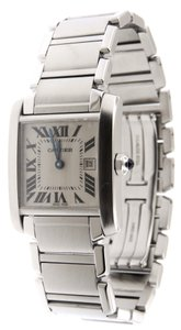 Cartier Mint Ladies Cartier Tank Francaise SS Midsize 2465 Date 26mm Watch