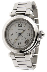 Cartier Mint Men Cartier Pasha C 2324 SS Automatic 35mm Date Watch