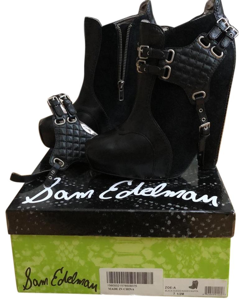 outlet on sale various colors most popular Sam Edelman Black Zoe-a Semi Wedge Inspired By Balenciaga Boots/Booties  Size US 7.5 Regular (M, B) 43% off retail