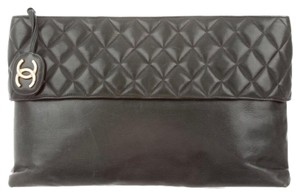 Chanel green and gold Clutch