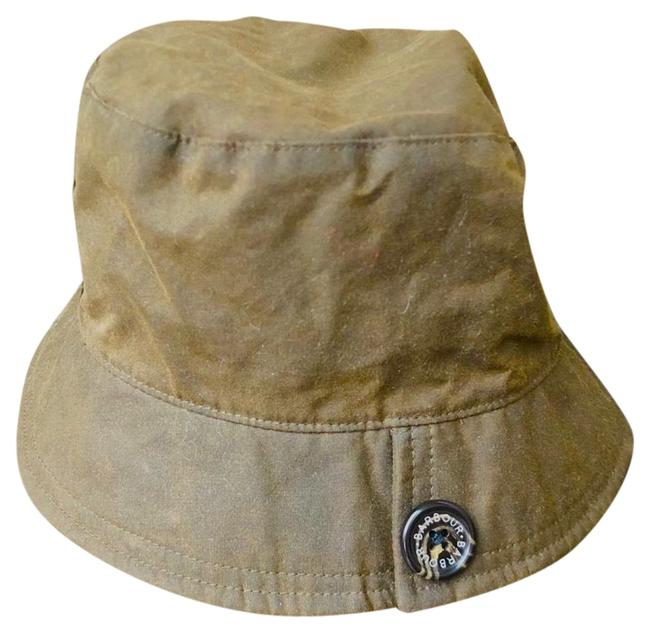 Item - Olive Multi Waxed Cotton Rain Hat