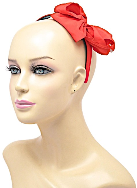 Item - Red Satin Bow Headband One Size - Bows Are Trending Hair Accessory