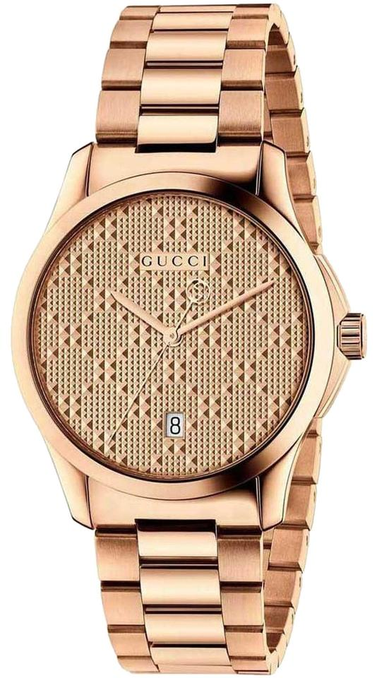 5f06d90f4c3 Gucci Rose Gold G-timeless Stainless Diamante Dial Ya126482 Watch ...