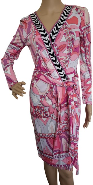 Preload https://img-static.tradesy.com/item/24802878/emilio-pucci-pink-white-multicolor-belted-longsleeve-mid-length-cocktail-dress-size-8-m-0-1-650-650.jpg