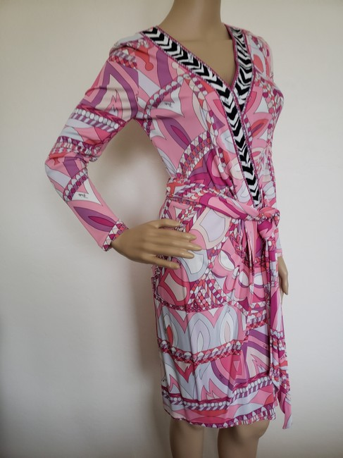 Emilio Pucci Sundress Belted Monogram Floral Longsleeve Dress Image 5