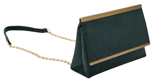 Item - New with Flap Green Gold Cross Body Bag