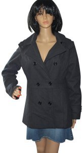 Christopher & Banks Winter Double Breasted Wool Warm Wool Pea Coat