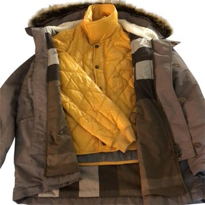 Burberry Brit Quilted Faux Fur Down Filled Puffer Hooded Coat