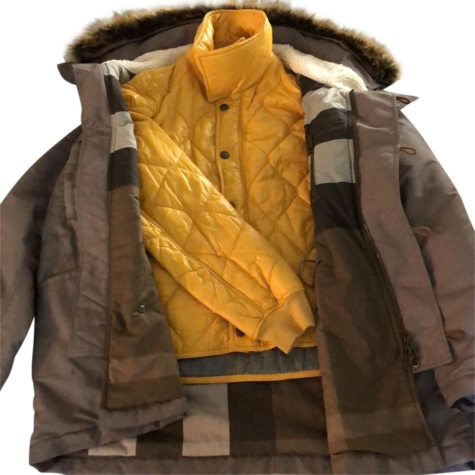 Burberry Brit Brown Mens Two In One Winter Coat
