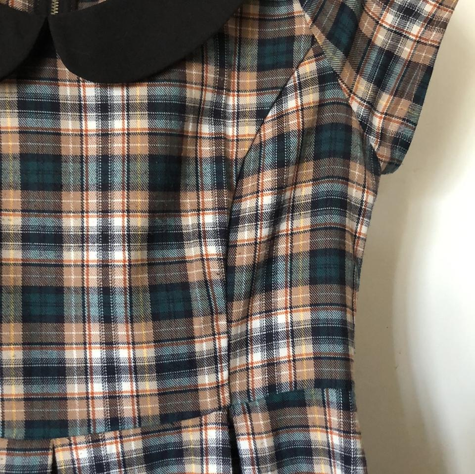 1eabfc8809b4e Sunny Girl short dress teal, black, brown, rust and yellow plaid on  Tradesy. 123456789101112