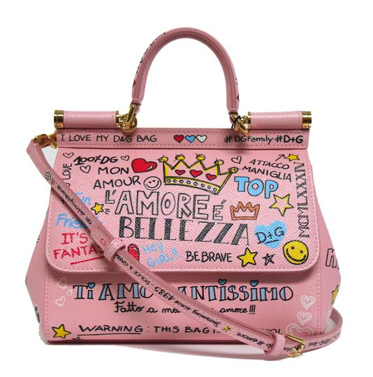 Preload https://img-static.tradesy.com/item/24803198/dolce-and-gabbana-new-dolce-and-gabbana-sicily-small-borsaspalla-murales-print-pink-leather-cross-bo-0-0-540-540.jpg