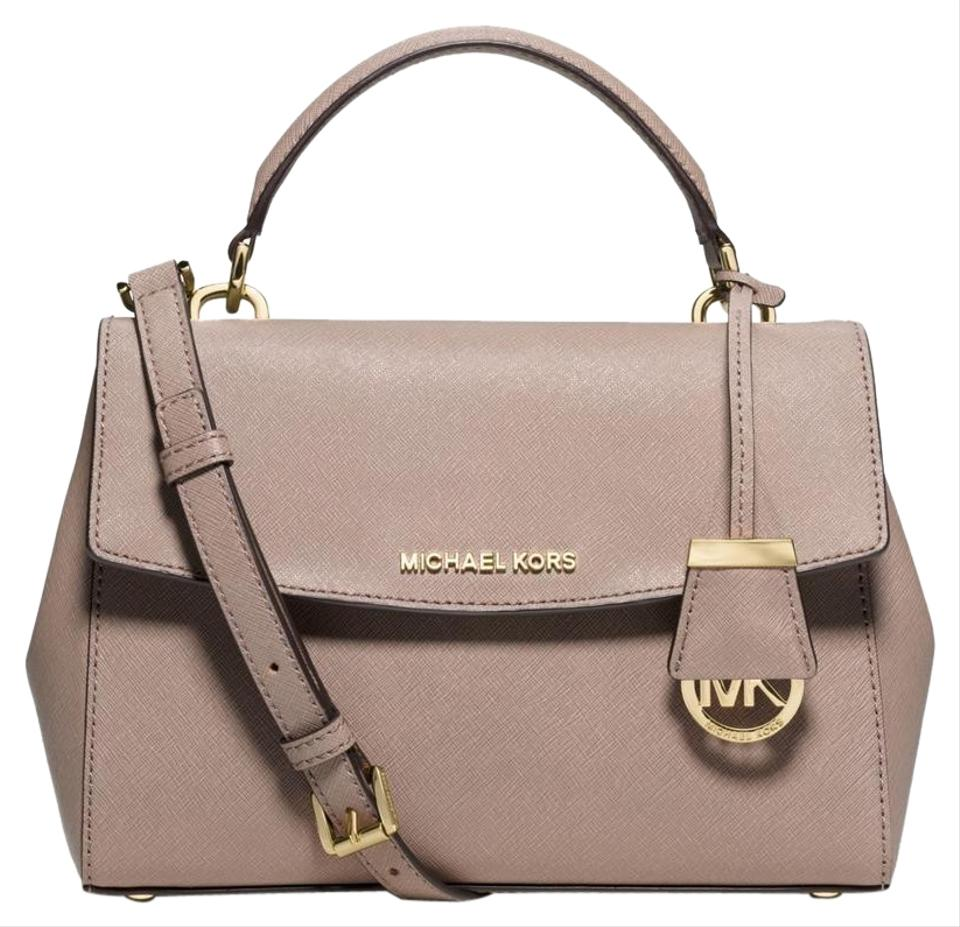 34a5f81b15 Michael Kors Ava Small Top Handle Dark Dune Leather Satchel - Tradesy