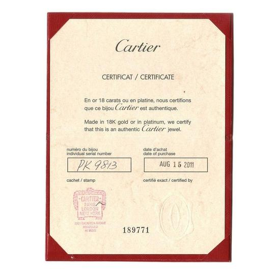 Cartier Tortue Diamond Mother Of Pearl 18k Rose Gold Pendant & Chain Cert.