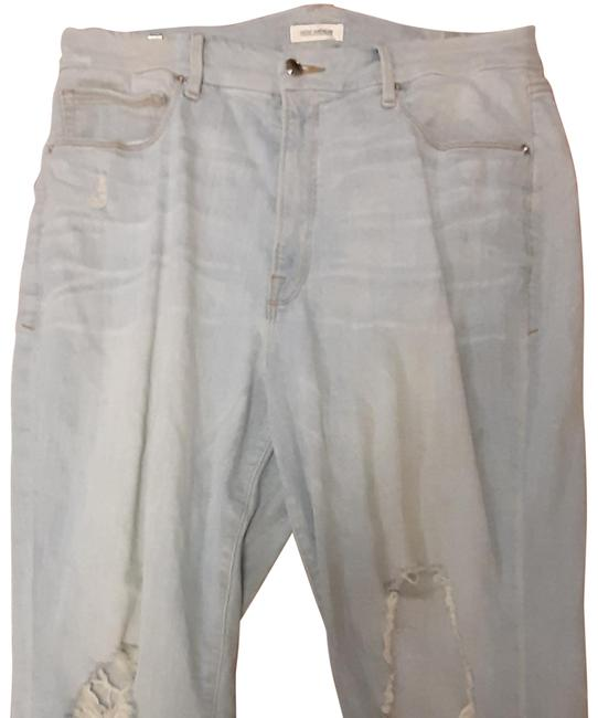Item - Light Blue Wash Cropped Relaxed Fit Jeans Size 16 (XL, Plus 0x)