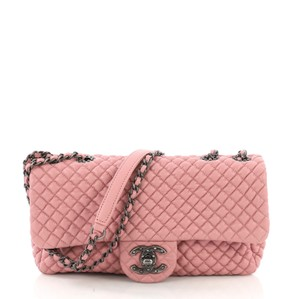 24d4fff15f83 Chanel Classic Flap Cc Micro Quilted Medium Pink Calfskin Leather Shoulder  Bag