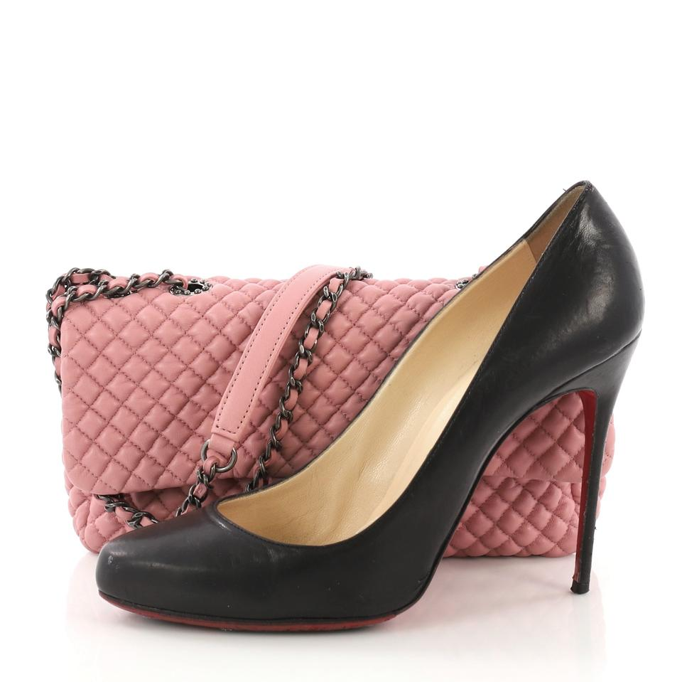 d2aeb4860747 Chanel Classic Flap Cc Micro Quilted Medium Pink Calfskin Leather ...