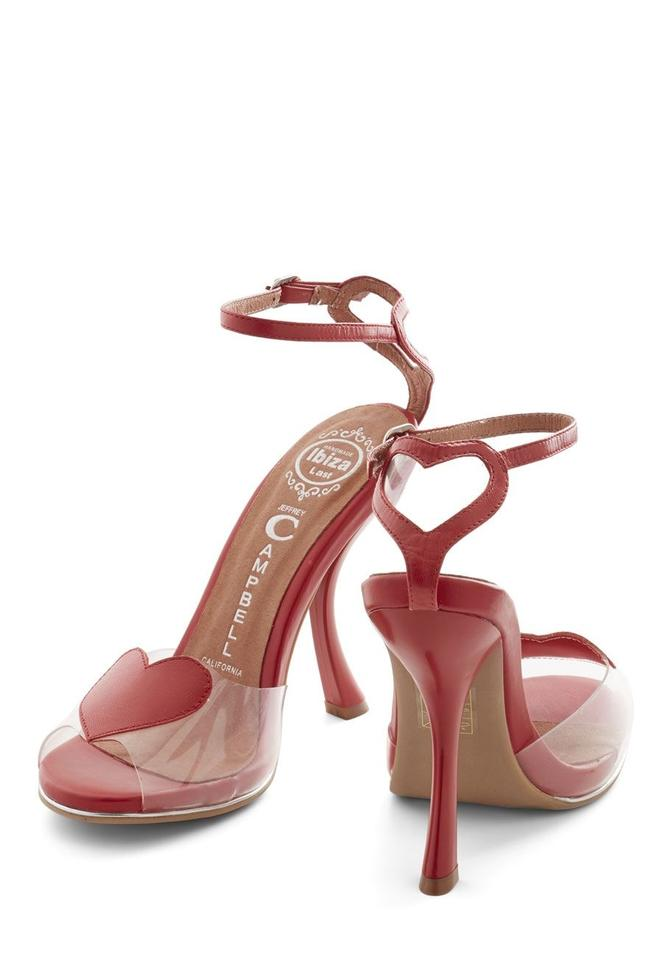 cfe6bb9b3024 Jeffrey Campbell Red New Valentine s Hello Lover Heels Formal Shoes. Size   US ...