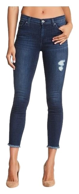 Item - Dark Wash Distressed Nwot Gwenevere Ankle Frayed Skinny Jeans Size 30 (6, M)