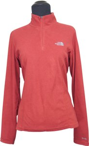 The North Face The North Face Dark Red Signature Fleece Athletic Jacket