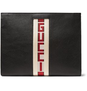 Gucci Pouch Leather Pouch Black Clutch