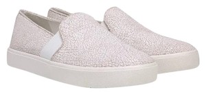 Vince Sneakers Slip On White cracked leather Athletic