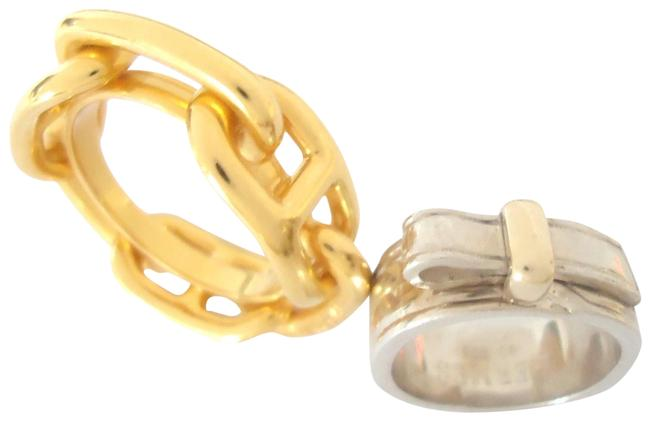 Hermès Tone Ring Us Size 5 and Scarf Ring/2 Items Hermès Tone Ring Us Size 5 and Scarf Ring/2 Items Image 1