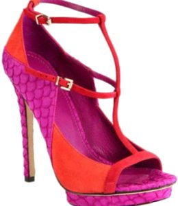 Brian Atwood pink and orange Pumps