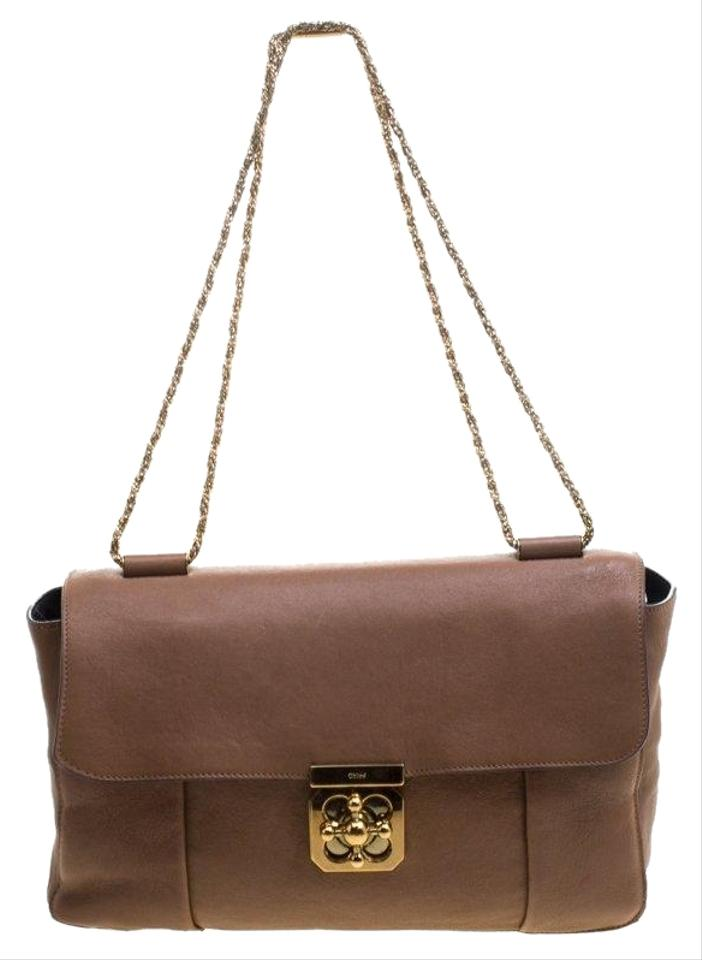95c229e7cb6a Chloé Elsie Brown Leather Shoulder Bag - Tradesy