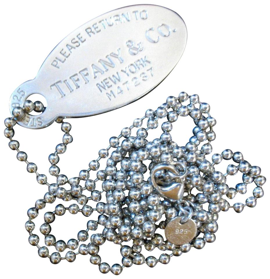 c7563ceb4 Tiffany & Co. Trademark Please Return to Large Dog Tag Necklace Image 0 ...
