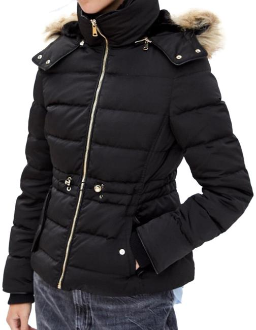 Item - Black New Hooded Down Jacket Size 2 (XS)