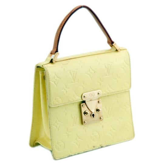 Louis Vuitton Leather Tote in Yellow