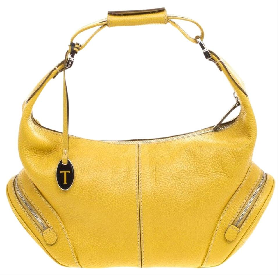 ab5e2d3a9cce Tod s Charlotte Yellow Leather Hobo Bag - Tradesy