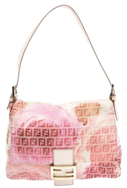 Item - Floral Print Zucchino Mama Forever Pink Canvas Shoulder Bag
