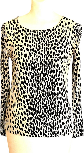 Item - Multi-color Scoopneck Wildcat Leopard Print Blouse Size 00 (XXS)