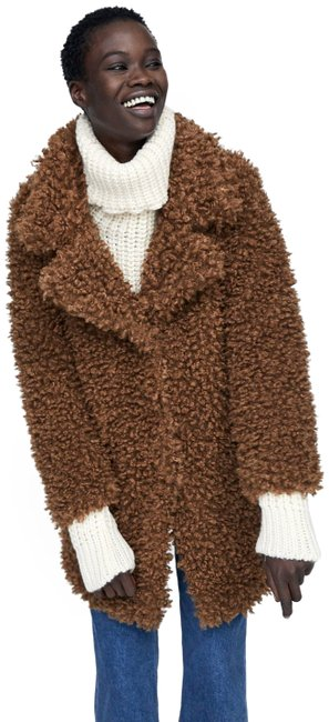 Item - Brown Taupe New Faux Winter Jacket Coat Size 6 (S)