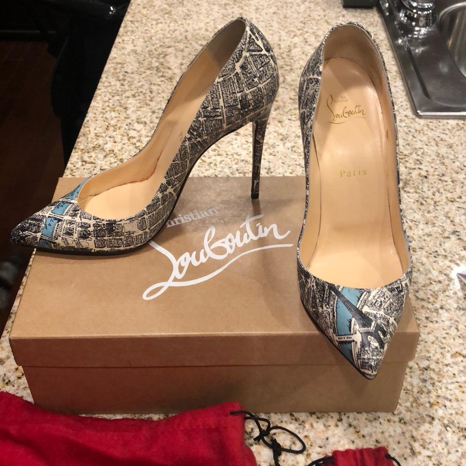 f9a6fb7526e Christian Louboutin Pigalle Follies Plan De Paris 100mm Pumps Size US 7.5  Regular (M, B) 39% off retail