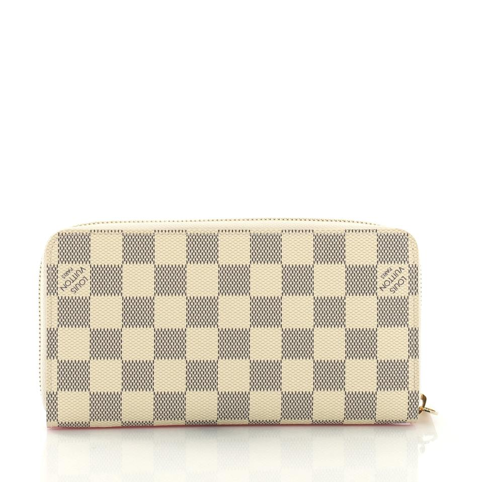 618597387d76 Louis Vuitton Zippy Wallet Limited Edition Damier Azur Canvas Clutch ...