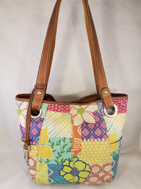 Fossil Painted Floral Shoulder Hand Euc Multi-color Leather Hobo Bag Fossil Painted Floral Shoulder Hand Euc Multi-color Leather Hobo Bag Image 3