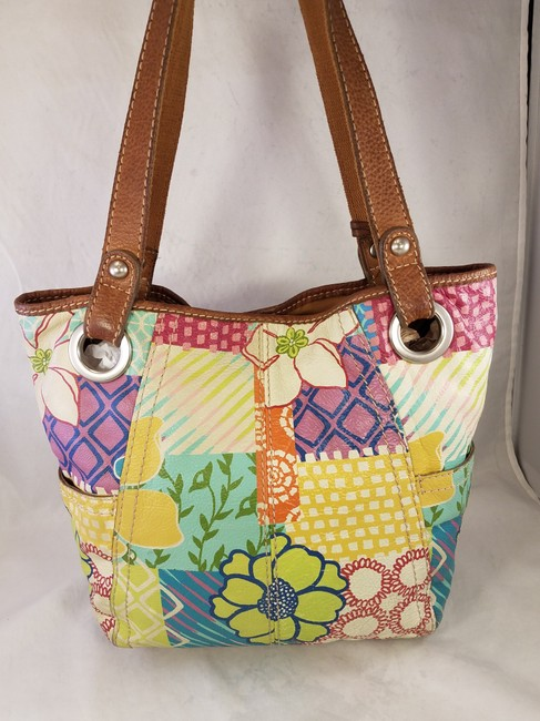 Fossil Painted Floral Shoulder Hand Euc Multi-color Leather Hobo Bag Fossil Painted Floral Shoulder Hand Euc Multi-color Leather Hobo Bag Image 6