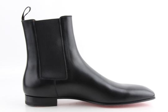 Christian Louboutin Black Roadie Flat Calf Boots Shoes