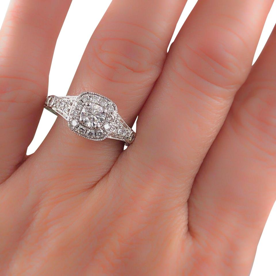 Vera Wang Wedding Rings.Vera Wang Bridal I Si2 W Diamond Engagement Love Collection Round 1 25 Tcw 14k Ring 31 Off Retail