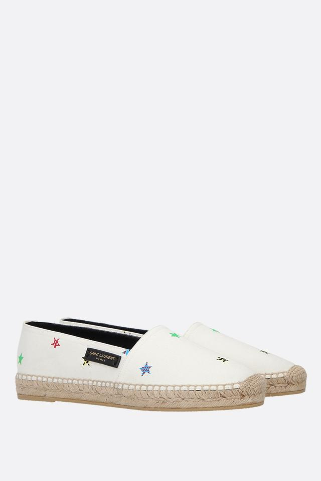 4b8d12c3d9 Saint Laurent Multicolor Fun Star Canvas Print Flats Size EU 39 (Approx. US  9) Regular (M, B)