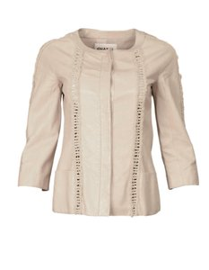 Chanel Leather Braiding Top Beige