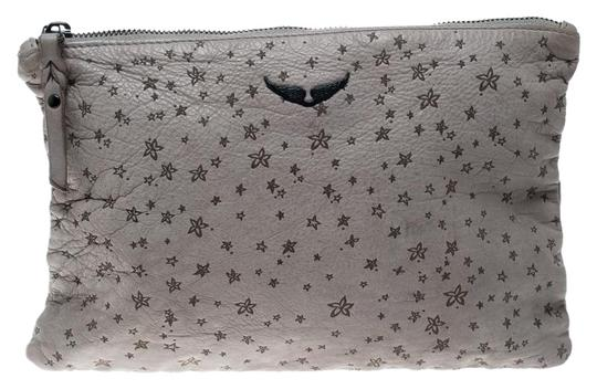 Preload https://img-static.tradesy.com/item/24806893/zadig-and-voltaire-printed-grey-leather-clutch-0-1-540-540.jpg