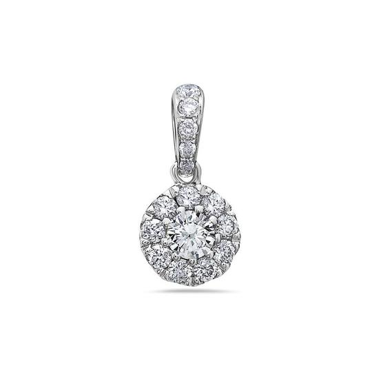 OMIJewelry GOLD DISK PENDANT WITH DIAMONDS AVAILABLE IN WHITE & YELLOW GOLD Image 1