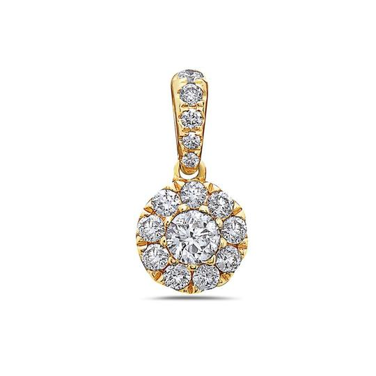 OMIJewelry GOLD DISK PENDANT WITH DIAMONDS AVAILABLE IN WHITE & YELLOW GOLD Image 2