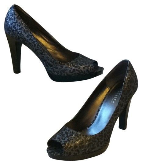 Other Black and Silver Leopard Pumps