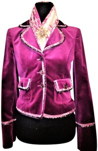 Cynthia Steffe Velvet / Velor Night Out Career Purple Violet Blazer