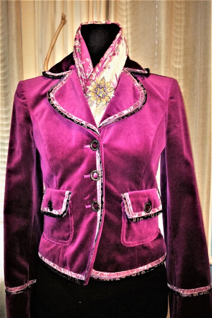 Cynthia Steffe Velvet / Velor Night Out Career Purple Violet Blazer Image 1