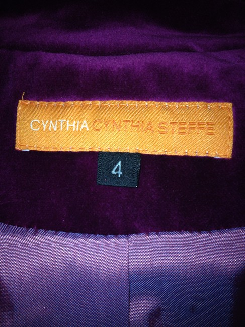 Cynthia Steffe Velvet / Velor Night Out Career Purple Violet Blazer Image 10